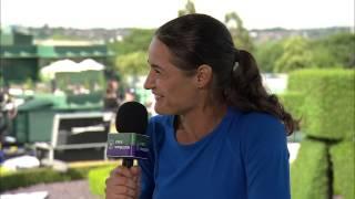 Monica Niculescu visits the Live @ Wimbledon studio
