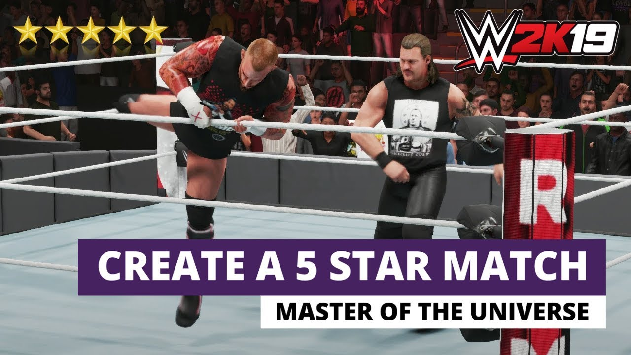 How To Create A 5 Star Match With WWE 2K19! (1 Player vs CPU)