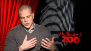 Matt Damon and Cameron Crowe Interview for WE BOUGHT A ZOO