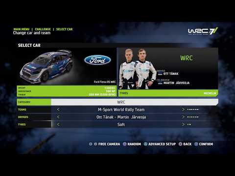 WRC 7 Challange Poland - Track Chmielewo 8.28 Km - Ott Tänak