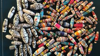 Paper beads from Magazine cove…