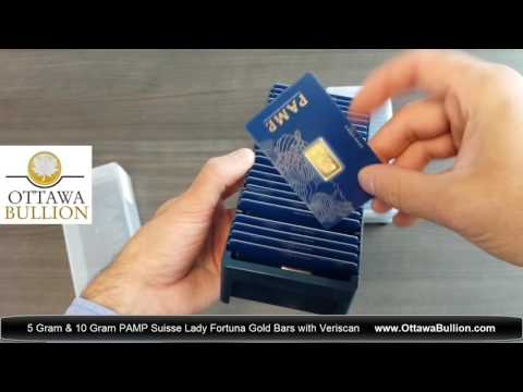 5 gram & 10 gram PAMP Suisse Fortuna Gold Bars. Sell Gold Ottawa