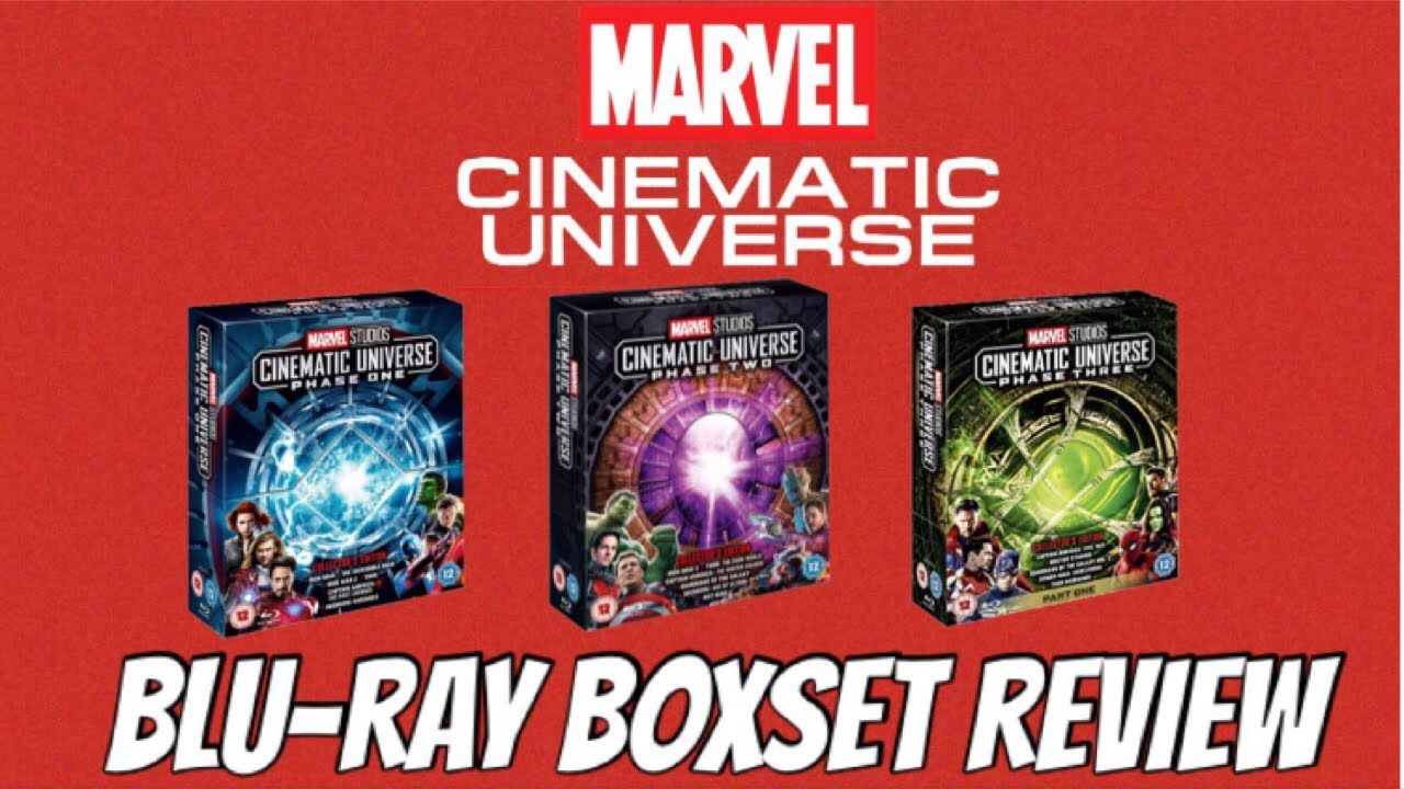 Marvel BLU-RAY Collection Boxset Unboxing and Review