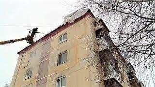 В Нефтеюганске «обезвредили» лавиноопасные крыши