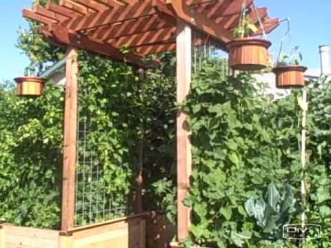 My Redwood Entry Trellis Arbor Why Not To Use Vinyl