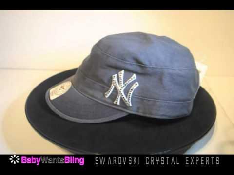 16eeadb92fa New York Yankees Cadet Swarovski Crystal Bling Rhinestone Hat - YouTube