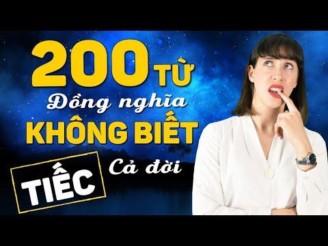200 TỪ ĐỒNG NGHĨA THÔNG DỤNG không biết tiếc cả đời - Học Tiếng Anh Online (Trực Tuyến)
