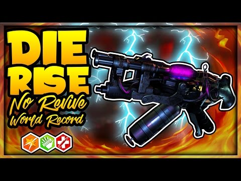 """🏆""""INSANE DIE RISE NO REVIVE WORLD RECORD ATTEMPT LIVE""""🏆 CURRENTLY 2ND PLACE! (Black Ops 2 Zombies)"""