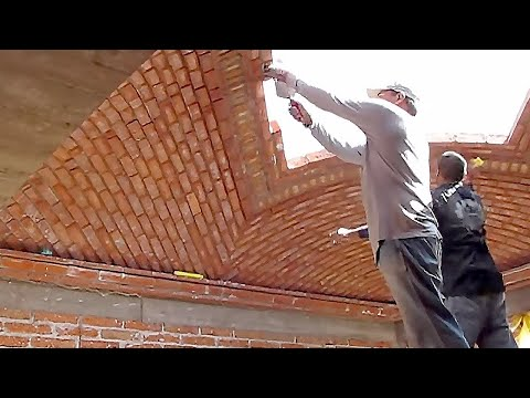 Incredible brick roof. Everyone should watch this worker's video.
