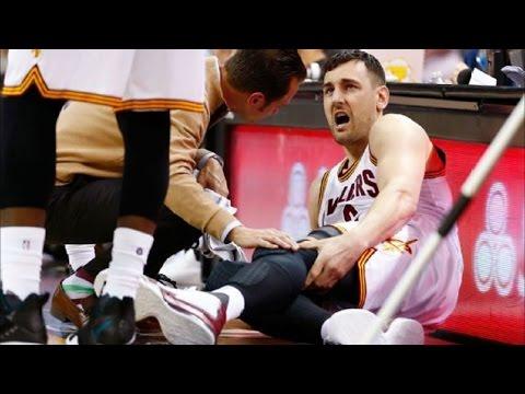 Andrew Bogut Fractures Leg in Cavs Debut - Heat vs Cavs