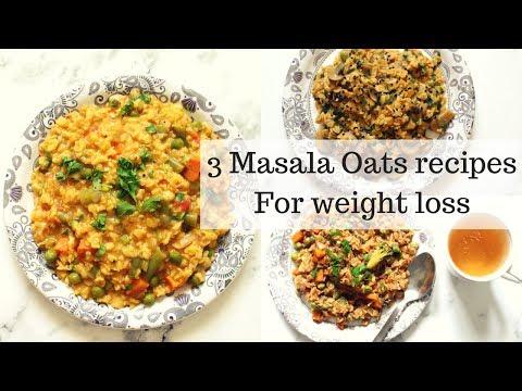 3-masala-oats-recipes-for-weight-loss-|-indian-savory-oats-recipes-|-ranju-n