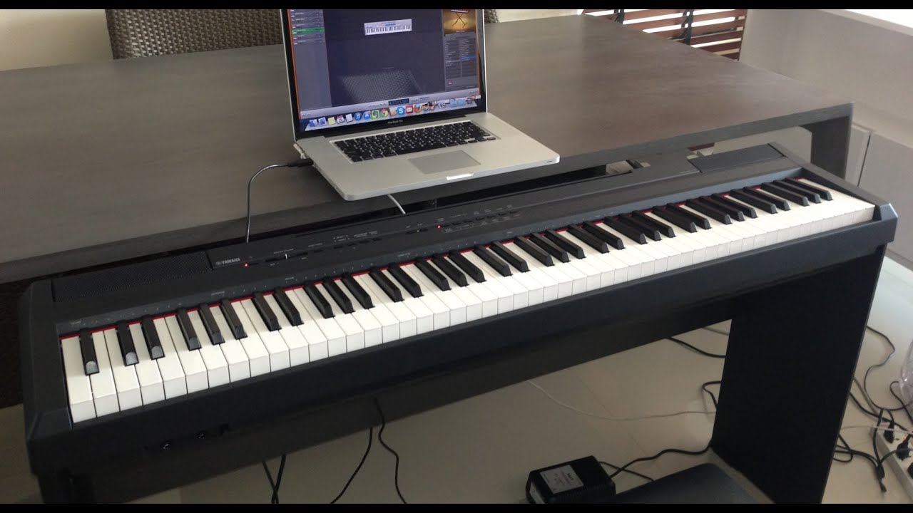 yamaha keyboard p 105 review unboxing youtube. Black Bedroom Furniture Sets. Home Design Ideas