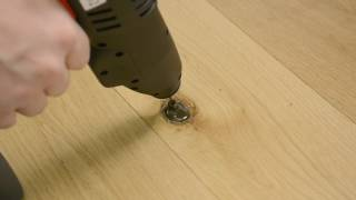 Tmel na dřevo KNOTTEC -  Jak opravit vypadlý suk