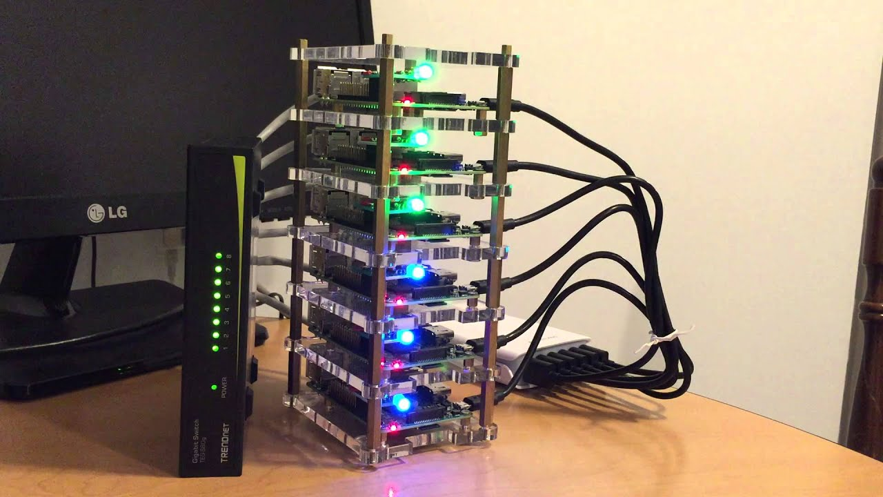 Ansible deployments Visualized with a Raspberry Pi cluster