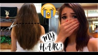 I MESSED UP MY HAIR~How To Trim Your Own Hair (Gone Wrong) thumbnail