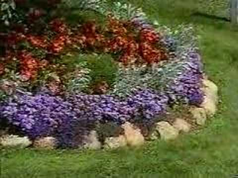 How To Garden , Arranging A Flower Bed   YouTube