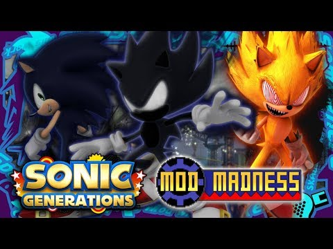 Sonic Generations PC - DARK SONIC & SPACE PORT (4K 60FPS) Mod Madness!