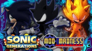 Sonic Generations PC - DARK SONIC & SPACE PORT (4K 60FPS) Mod Madness!