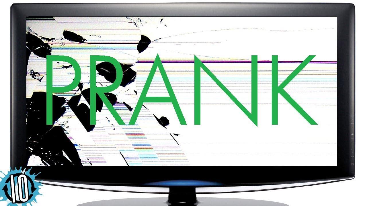Tv prank broken tv cracked screen prank - How to do the broken tv screen prank ...