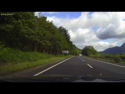 Scotland Tour 2017 Driving along Loch Lomond