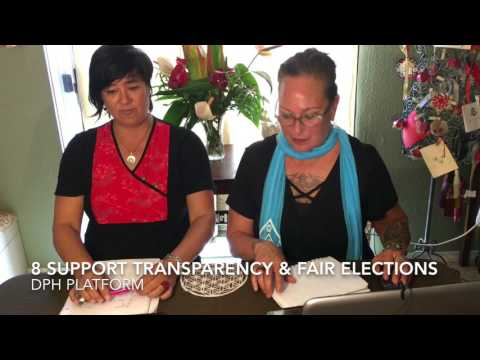 Democratic Party of Hawaii Platform does it Serve the Needs of the People and the Aina
