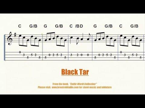 Mandolin - Violin - Black Tar Jig Sheet Music and Tablature
