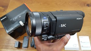 sony 4K FDR-AX100E Camcorder Unboxing and Review
