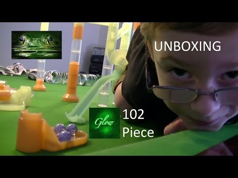 Unboxing 102 Piece Marbulous Glow in the Dark Fun Marble Madness Toy Set