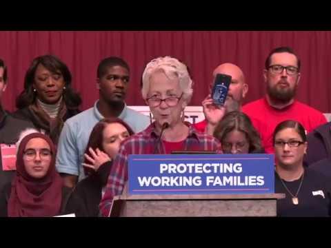 Bernie Sanders in Dayton, OH protecting working families.