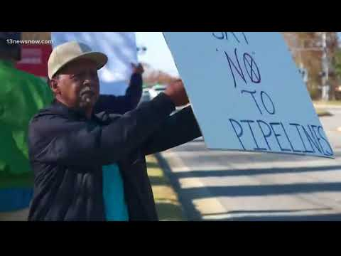 Residents protest natural gas pipeline