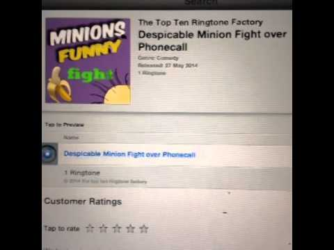 Minions ringtone in itunes search the top ten ringtone factory