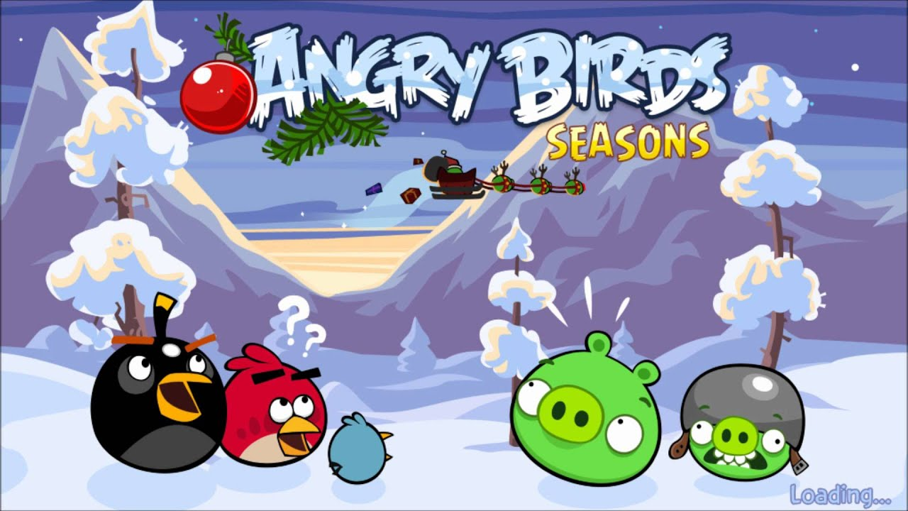Angry Birds Seasons Wreck The Halls Theme Ambient