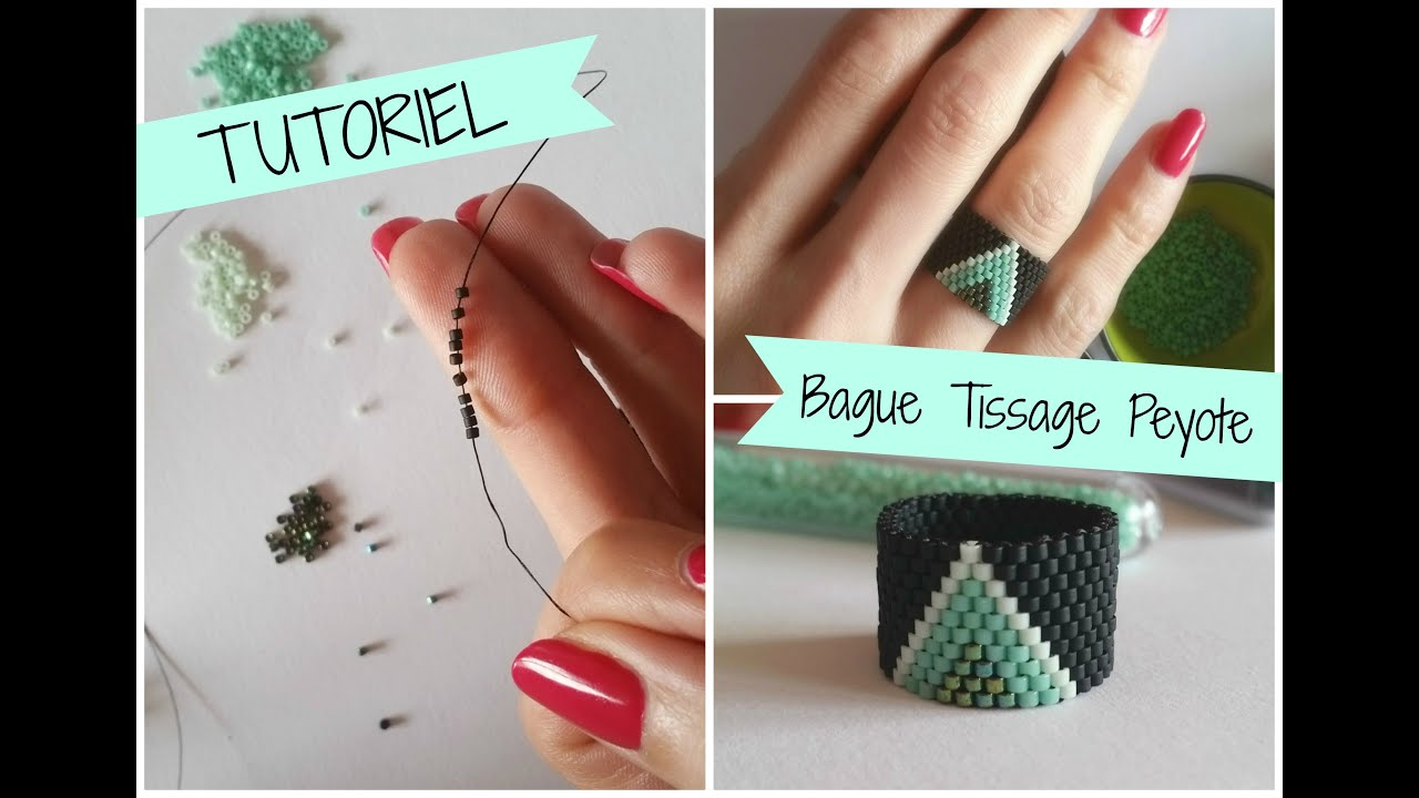 Fabulous Tutoriel Bague en tissage Peyote - YouTube CZ78