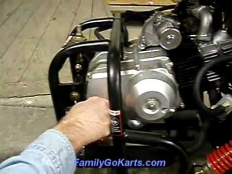 how to change a go kart starter pinion