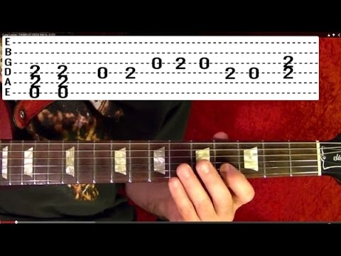 Guitar Lesson - CRAZY TRAIN - Randy Rhoads - ( Video 1 of 3 ) With Printable Tabs