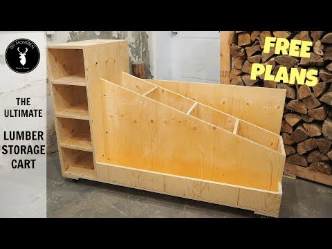 The Ultimate Lumber Storage Cart (Free Plans)