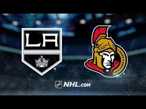 Los Angeles Kings Vs. Ottawa Senators | NHL Game Recap | October 24, 2017 | HD