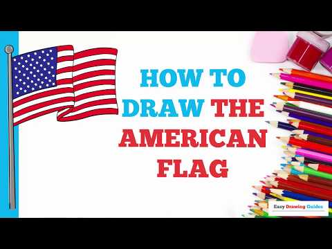 How To Draw The American Flag In A Few Easy Steps Drawing Tutorial