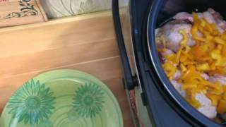 Курица тушеная с овощами в мультиварке