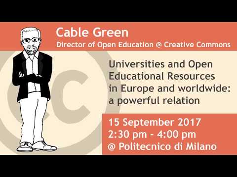 Cable Green - Universities and Open Educational Resources in
