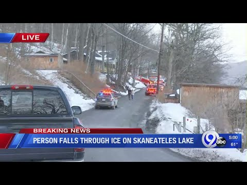 Person falls through the ice on Skaneateles Lake