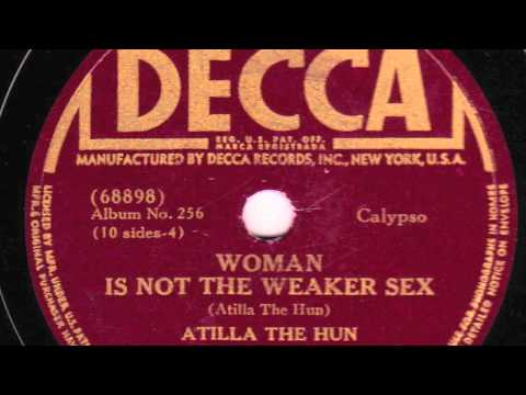 Woman Is Not The Weaker Sex [10 inch] - Atilla The Hun with Gerald Clark & his Caribbean Serenaders