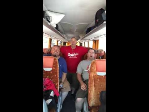 Coach drivers doing karaoke