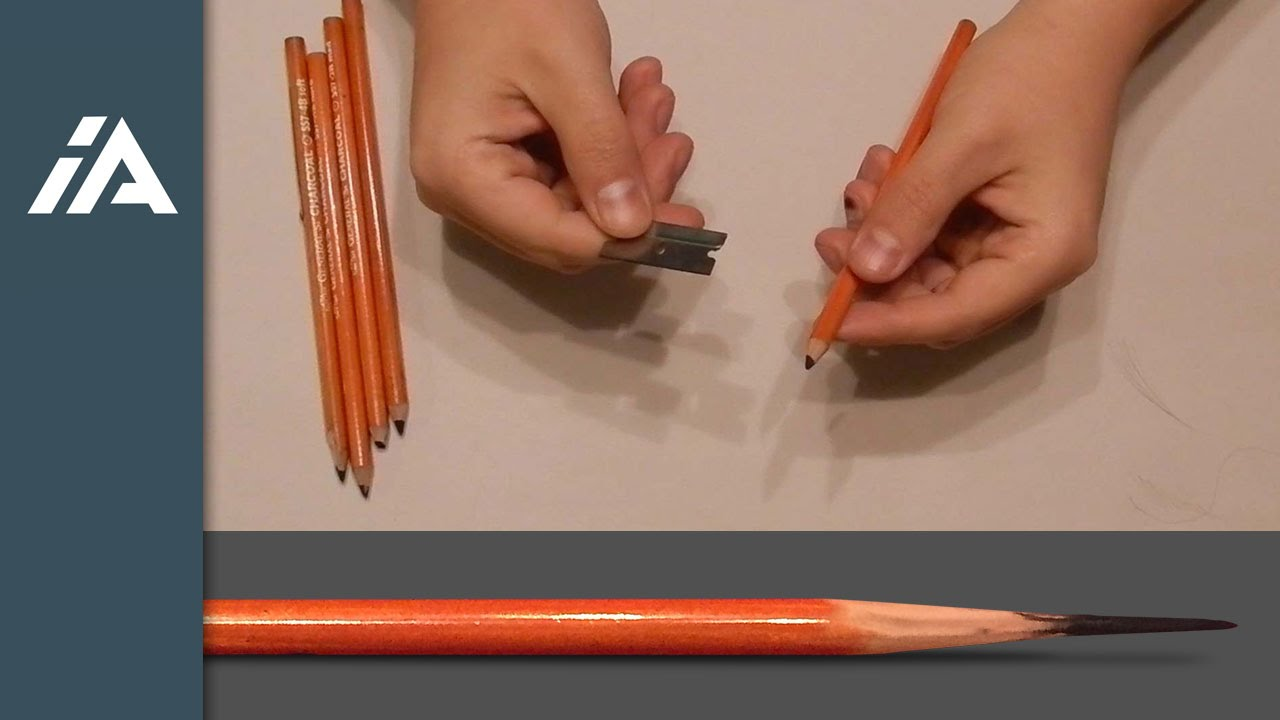 How To Sharpen Charcoal Pencils  YouTube