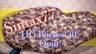 Hammock Gear Burrow 40 - Down Top Quilt Review