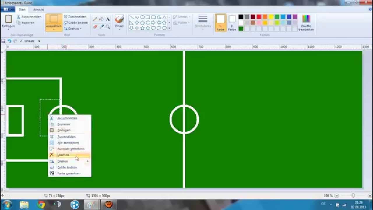 Let S Draw 01 Fussballfeld Deutsch Hd Youtube