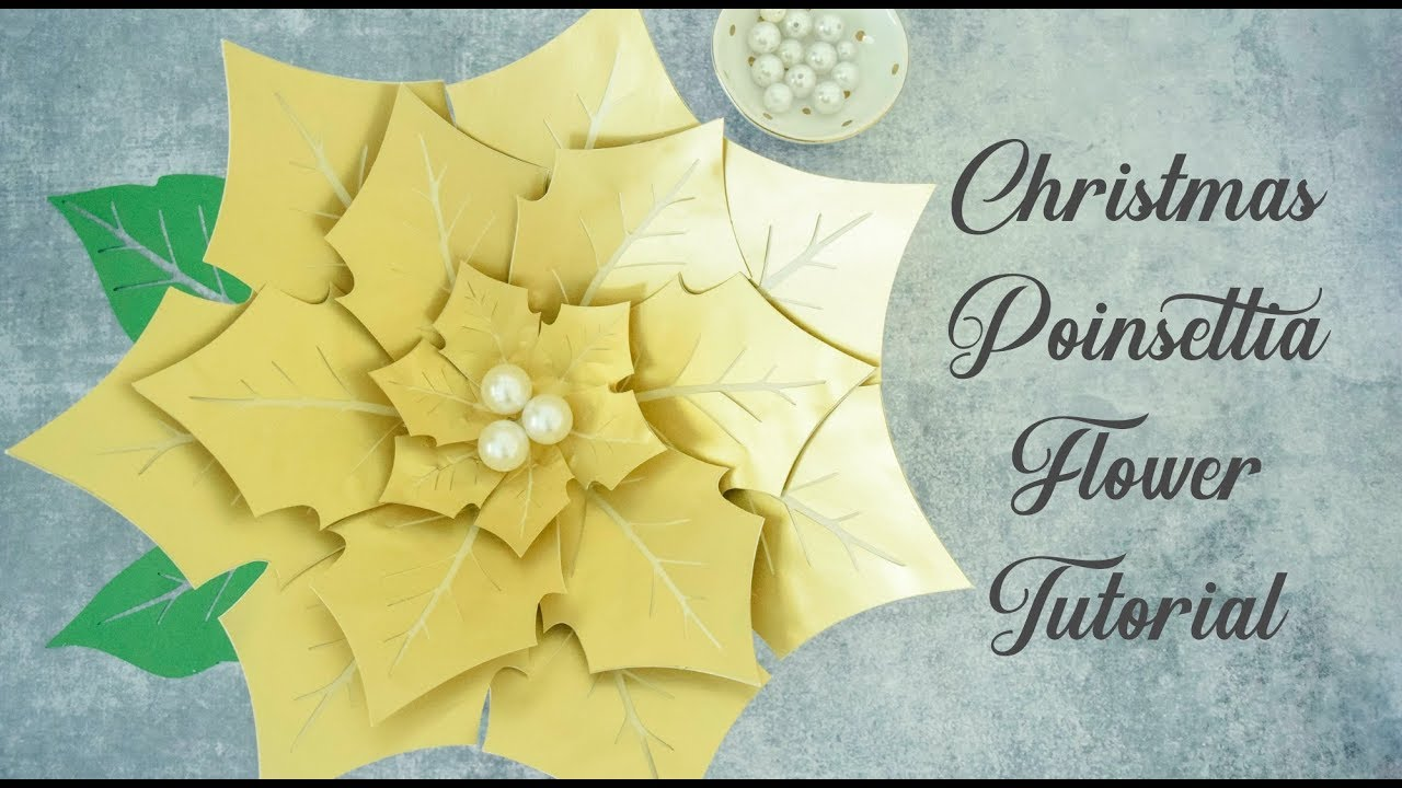Christmas Poinsettia Paper Flower Tutorial Easy Step By Step Youtube