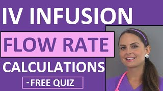 Dosage Calculations for Nursing Students Made Easy on IV Infusion Rate Calculations (Video 5)