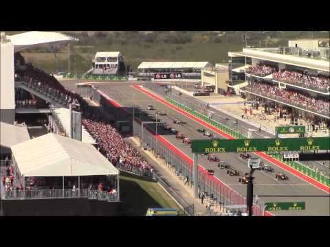 2013 F1 Austin USGP Race Start from Turn 1