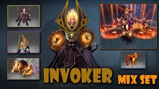 Dota 2 Invoker Most Expensive Mix Set Dark Artistry-Heaven-Piercing Pauldrons-Magus Accord